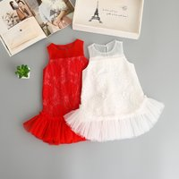 Fairy Solid Sleeveless Lace Mesh-layered Dress for Baby and Toddler Girls