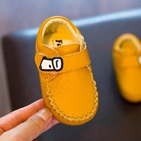 Comfy Leather Slip-on Crib Shoes for Baby