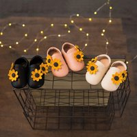 Sunflower-appliqued Slip-on Shoes for Baby and Toddler Girls