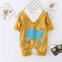 Adorable Printed Cotton Long Sleeve Jumpsuit for Baby