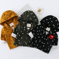 Polka Dot Cute Graphic Hooded Coat for Baby