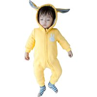 Rabbit Hooded Long-sleeve Faux Fur One Piece for Baby