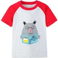 Adorable Bear Short Sleeve Tee for Boys