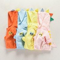 Cool Baby's Little Monster Printed Hooded Zip-up Coat
