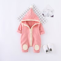 Baby's Adorable Hooded Jumpsuit