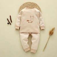 2-piece Adorable Fox Long Sleeve Top and Pants Set for Baby