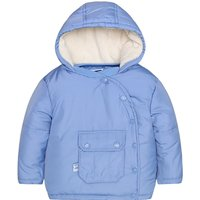 Lovely Bear Embroidery Hooded Button-front Cotton Coat for Babies