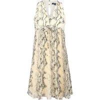 Deep V-neck Solid Chiffon Dress for Women