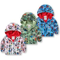 Cool Animal Pattern Hooded Zip-up Coat for Babies and Toddlers