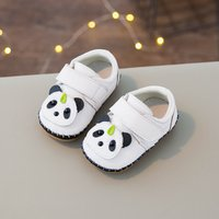 Lovely Appliqued Panda Velcro Shoes for Baby and Toddler