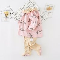 Baby Girl's Lovely Ruffled Collar Faux-two Footed Jumpsuit for Baby