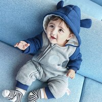 Baby's Cute Raccoon Hooded Jumpsuit for 9-12 Months Baby Boy