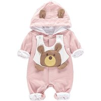 Baby's Adorable Bear Snap-up Jumpsuit