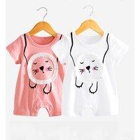 Adorable Lion Short Sleeve Bodysuit for Baby