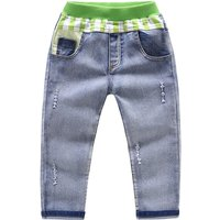 Boy's Ripped Contrast Jeans in Light Blue