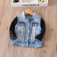 Handsome Contrast Long-sleeve Button-front Jacket for Baby and Toddler Girls