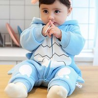 Lovely Blue Dinosaur Zip-up Jumpsuit for Babies