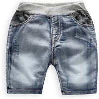 Stripes Decor Denim Shorts for Baby and Toddler Boys