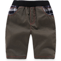 Cool Plaid Decor Casual Brown Pants for Baby and Toddler Boys