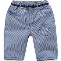 Stylish Stripes Patch Casual Pants for Baby and Toddler Boys