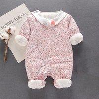 Sweet Flower Pattern Long-sleeve Jumpsuit for Babies