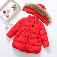 Solid Puffer Jacket for Girls