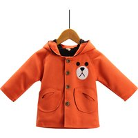 Adorable Bear Design Hooded Coat for Baby and Toddler