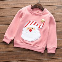 Stylish Santa Design Long-sleeve Top for Toddler and Kid