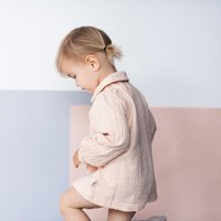 Trendy Doll Collar Long-sleeve Shirt in Pink for Baby and Toddler Girl