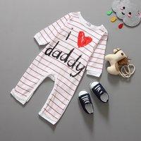 Sweet Letter Pattern Jumpsuit for Babies