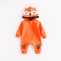 Adorable Zoo Patterned Hooded Jumpsuit for Baby