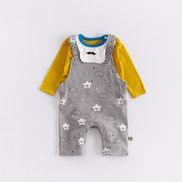 2-piece Lovely Cloud and Stars Print One Piece and Tee Set
