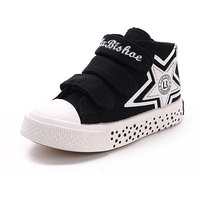 Sporty Velcro Star Print High-top Sneakers for Kids
