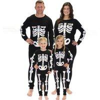 Stylish Halloween Skeleton Print Family Matching Jumpsuit