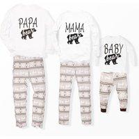 Family Bear Printed Pajamas for Christmas
