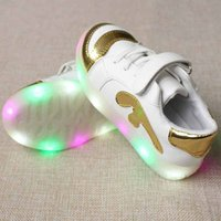 Shiny LED Lace-up Velcro Shoes for Toddler/Kid