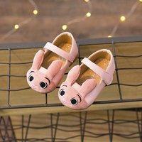 Adorable Rabbit Appliqued Velcro Shoes for Infant and Toddlers