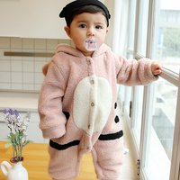 Adorable Faux Fur Tiger Hooded Jumpsuit for Baby