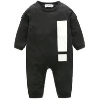 Cool Graphic Print Long-sleeve Jumpsuit for Babies