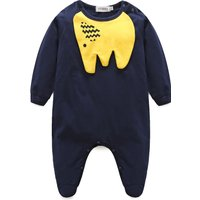 Baby's Elephant Applique Footie Jumpsuit (Unisex)