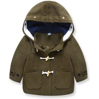 Preppy Style Horn Button Woolen Coat for Baby and Toddler