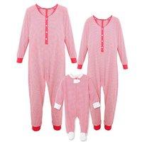 Red Stripes Christmas Onesie Pajamas Family Pjs