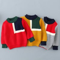 Adorable Long-sleeve Contrast Sweater for Babies