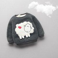 Super Cute Graphic Applique Fleece Pullover for Babies