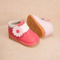 Trendy Flower Decor Velcro Shoes for Toddler Girl