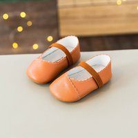 Sweet Solid Velcro Flat Shoes for Infant and Toddler Girls