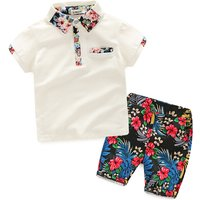 2-piece Floral Short-sleeve Tee and Shorts Set for Baby Boy