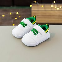 Comfy Contrast Lace-up Velcro Shoes for Infant and Toddlers