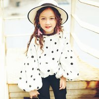 Fashionable Polka-dot Long-sleeve Top for Toddler Girl/Girl
