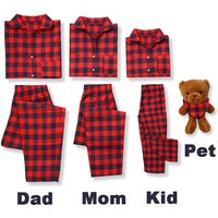 Classic Gingham Family Matching Pajamas Set